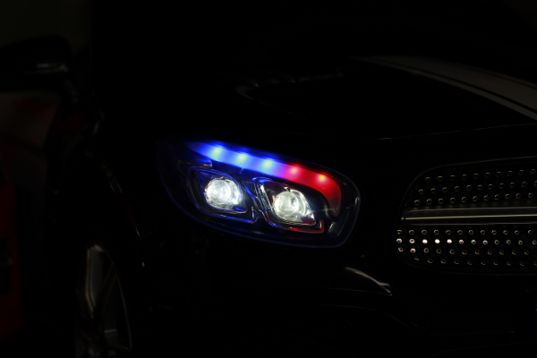 Masinuta electrica de politie Mercedes SL500 90W STANDARD #Negru 6