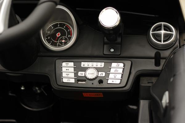 Masinuta electrica de politie Mercedes SL500 90W STANDARD #Negru 4