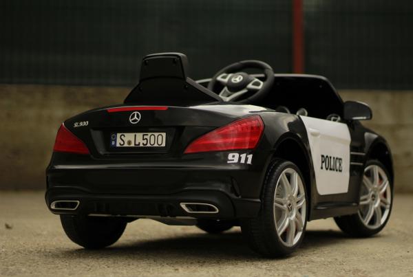 Masinuta electrica de politie Mercedes SL500 90W STANDARD #Negru 12