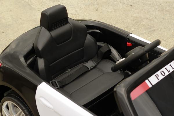 Masinuta electrica de politie Mercedes SL500 90W STANDARD #Negru 8