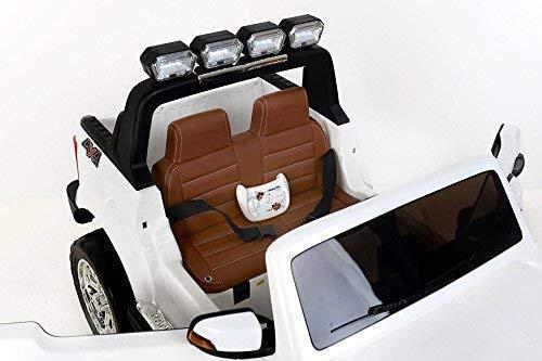 Masinuta electrica Ford Ranger 4x4 180W DELUXE #Alb 7