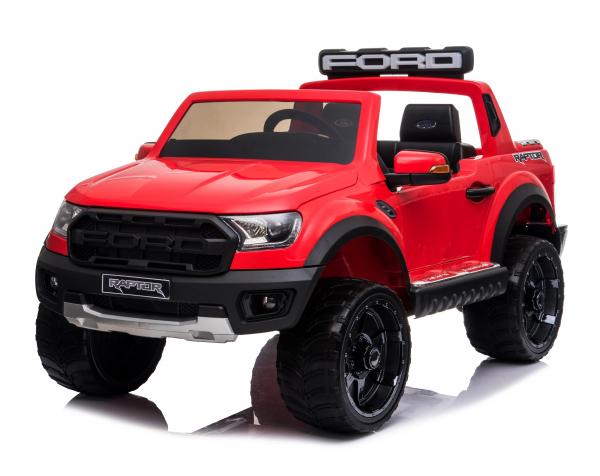 Masinuta electrica Ford Ranger 90W 12V cu Scaun TAPITAT #Rosu 0