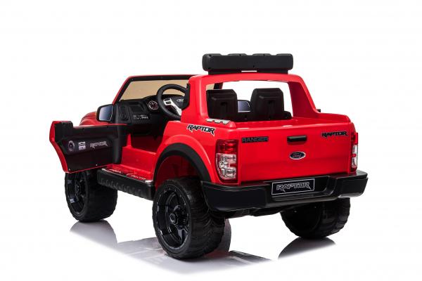 Masinuta electrica Ford Ranger 90W 12V cu Scaun TAPITAT #Rosu 2