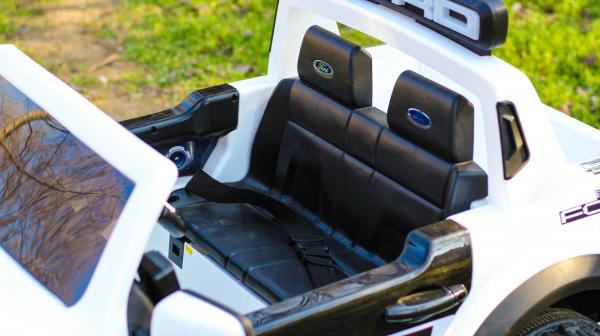 Masinuta electrica Ford Ranger F650 POLICE STANDARD 2x 35W 12V #Alb 8