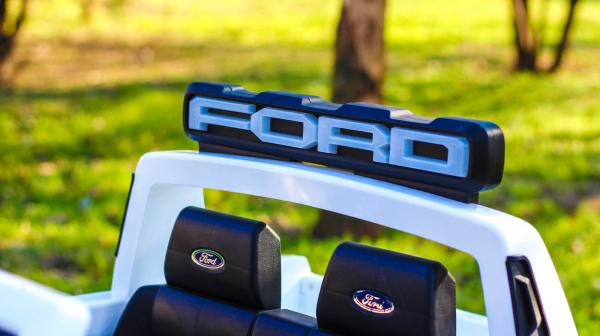 Masinuta electrica Ford Ranger F650 POLICE STANDARD 2x 35W 12V #Alb 13