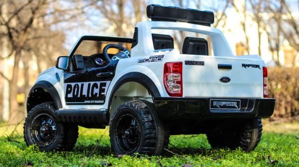 Masinuta electrica Ford Ranger F650 POLICE STANDARD 2x 35W 12V #Alb 4