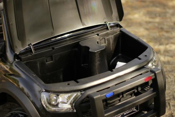 Masinuta electrica Ford Ranger POLICE 90W cu Scaun TAPITAT #Negru 4