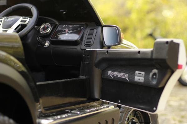Masinuta electrica Ford Ranger POLICE 90W cu Scaun TAPITAT #Negru 10