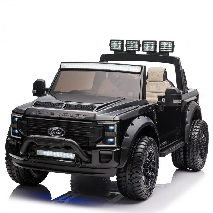 Ford Super Duty F450 pentru copii, 4x4 180W, negru [0]