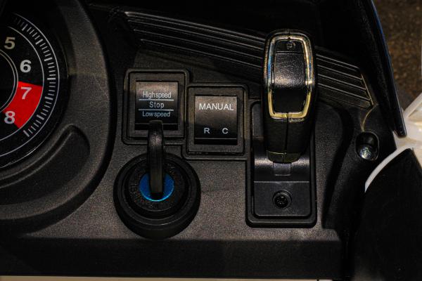Masinuta electrica Jaguar F Type cu ROTI MOI 2x 35W 12V #ALB 9