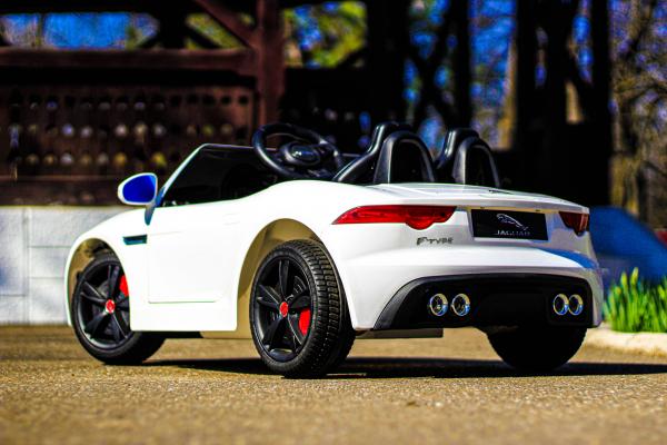 Masinuta electrica Jaguar F Type cu ROTI MOI 2x 35W 12V #ALB 4
