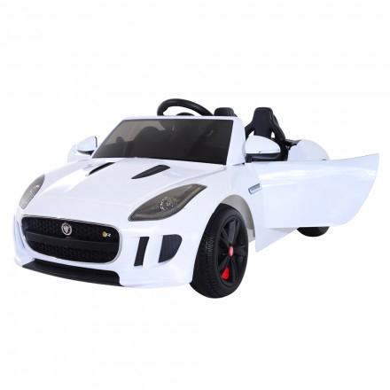 Masinuta electrica Jaguar F Type cu ROTI MOI 2x 35W 12V #ALB 0