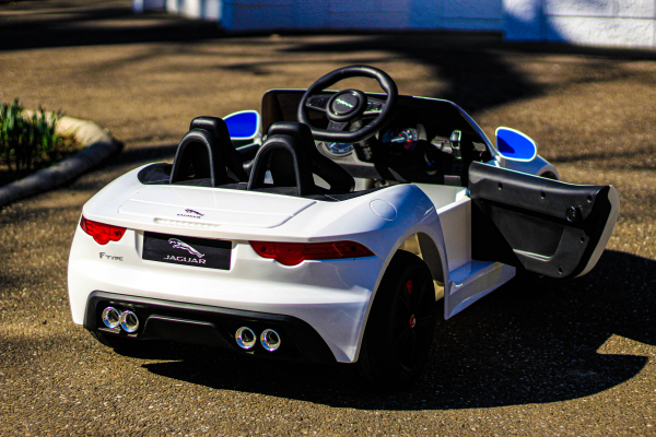 Masinuta electrica Jaguar F Type cu ROTI MOI 2x 35W 12V #ALB 12