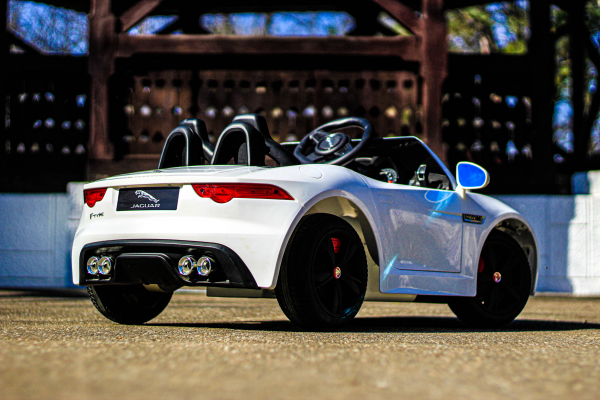 Masinuta electrica Jaguar F Type cu ROTI MOI 2x 35W 12V #ALB 5