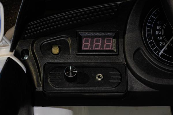 Masinuta electrica Jaguar F Type cu ROTI MOI 2x 35W 12V #ALB 10