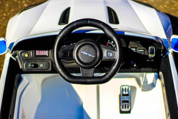 Masinuta electrica Jaguar F Type cu ROTI MOI 2x 35W 12V #ALB 7