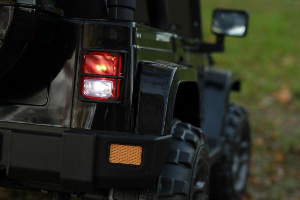 Masinuta electrica Jeep BRD-7588 90W 12V cu Scaun Tapitat #Negru 14