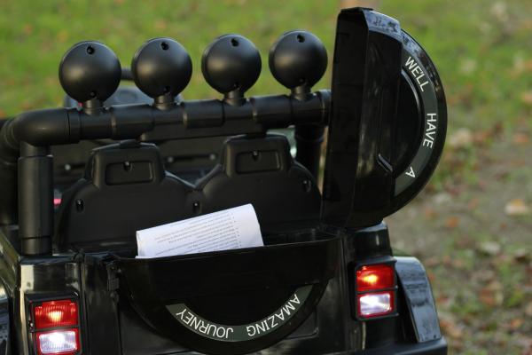 Masinuta electrica Jeep BRD-7588 90W 12V cu Scaun Tapitat #Negru 6