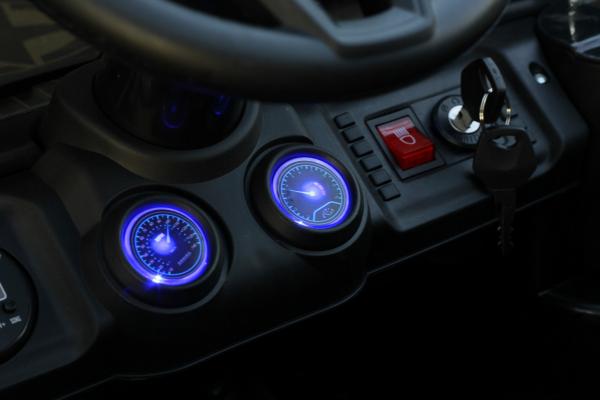 Masinuta electrica Jeep BRD-7588 90W 12V cu Scaun Tapitat #Negru 12