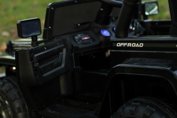 Masinuta electrica Jeep BRD-7588 90W 12V cu Scaun Tapitat #Negru 11