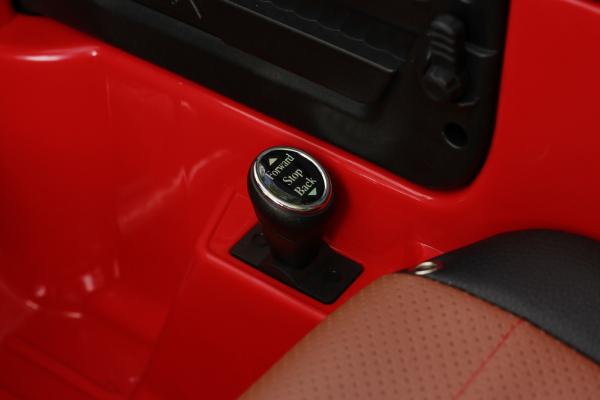 Masinuta electrica Jeep BRD-7588 90W 12V cu Scaun Tapitat #Rosu 5