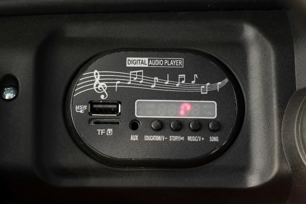 Masinuta electrica Jeep BRD-7588 90W 12V cu Scaun Tapitat #Rosu 6