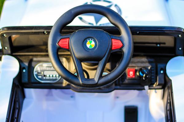 Masinuta electrica Jeep BRD-7588 90W 12V cu Scaun Tapitat #Alb 4