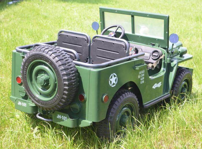 Masinuta electrica Jeep USA ARMY 4X4 180W PREMIUM #Verde [6]