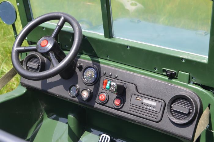 Masinuta electrica Jeep USA ARMY 4X4 180W PREMIUM #Verde [12]
