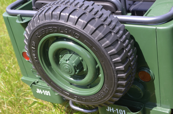 Masinuta electrica Jeep USA ARMY 4X4 180W PREMIUM #Verde [10]