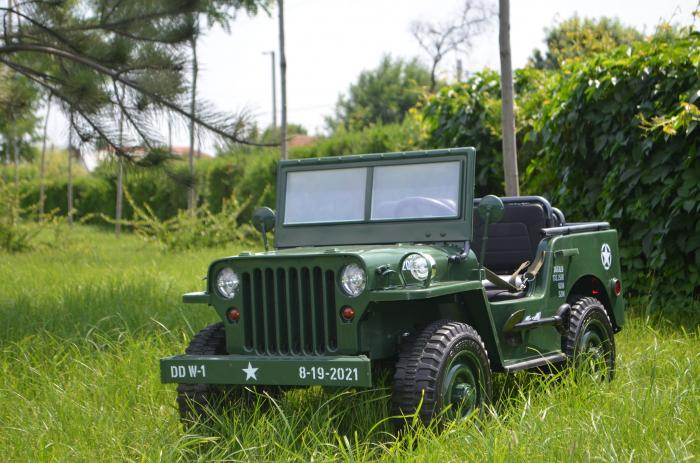 Masinuta electrica Jeep USA ARMY 4X4 180W PREMIUM #Verde [3]