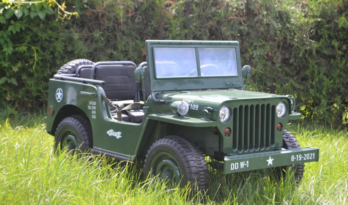 Masinuta electrica Jeep USA ARMY 4X4 180W PREMIUM #Verde [5]