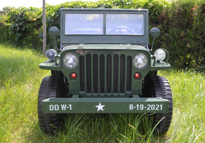 Masinuta electrica Jeep USA ARMY 4X4 180W PREMIUM #Verde [17]