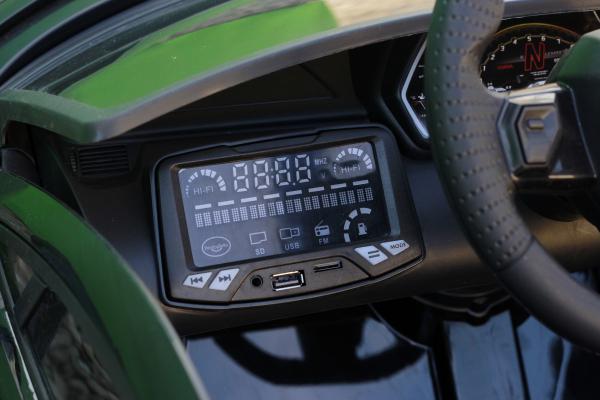 Masinuta electrica Lamborghini Aventador SVJ 2x35W 12V PREMIUM #Negru 8