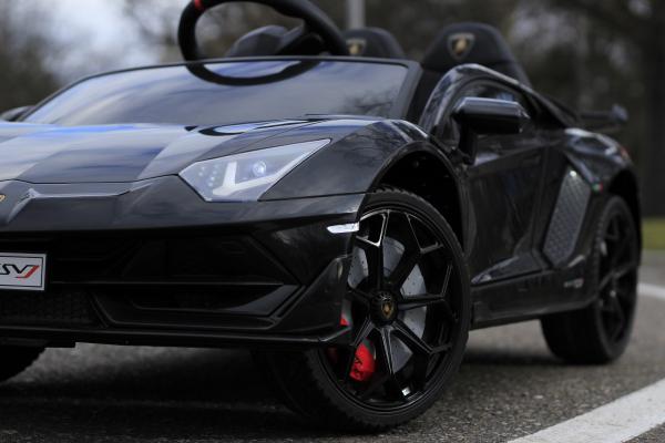 Masinuta electrica Lamborghini Aventador SVJ 2x35W 12V PREMIUM #Negru 12