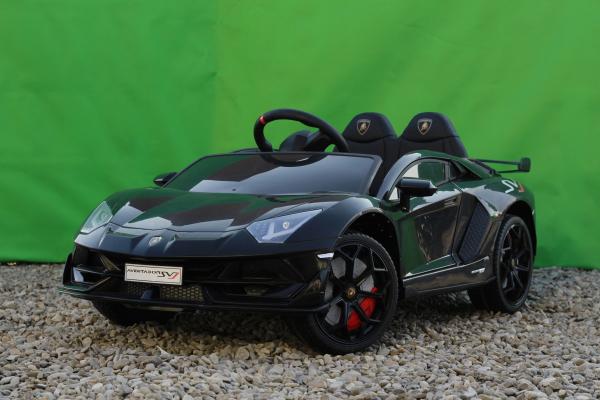 Masinuta electrica Lamborghini Aventador SVJ 2x35W 12V PREMIUM #Negru 3