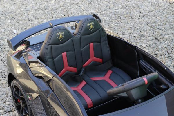 Masinuta electrica Lamborghini Aventador SVJ 2x35W 12V PREMIUM #Negru 10