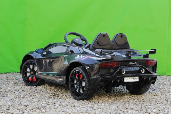 Masinuta electrica Lamborghini Aventador SVJ 2x35W 12V PREMIUM #Negru 5
