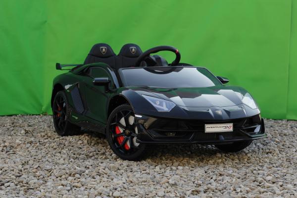 Masinuta electrica Lamborghini Aventador SVJ 2x35W 12V PREMIUM #Negru 4