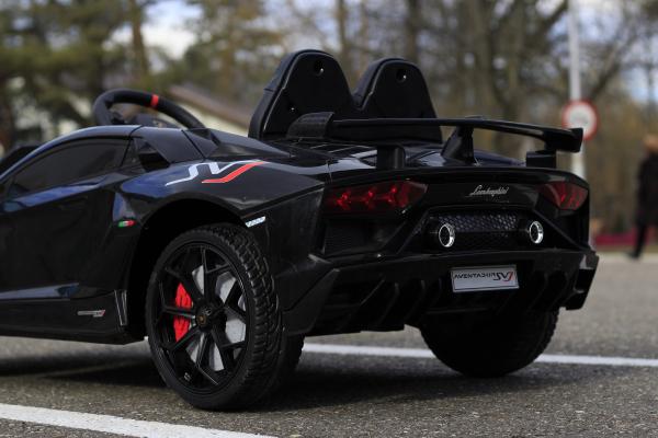 Masinuta electrica Lamborghini Aventador SVJ 2x35W 12V PREMIUM #Negru 9