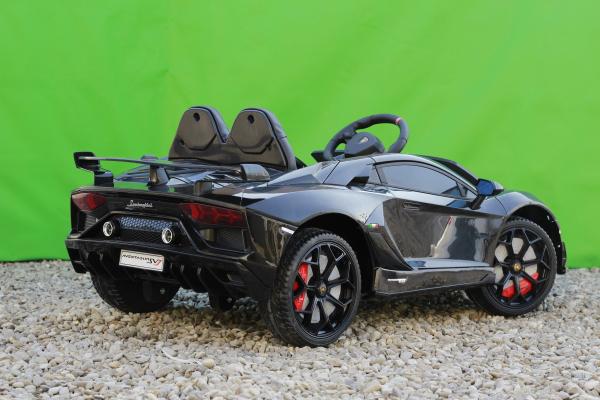 Masinuta electrica Lamborghini Aventador SVJ 2x35W 12V PREMIUM #Negru 6