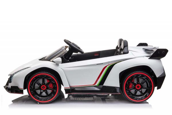 Masinuta electrica Lamborghini Veneno 180W 12V PREMIUM #Alb [1]