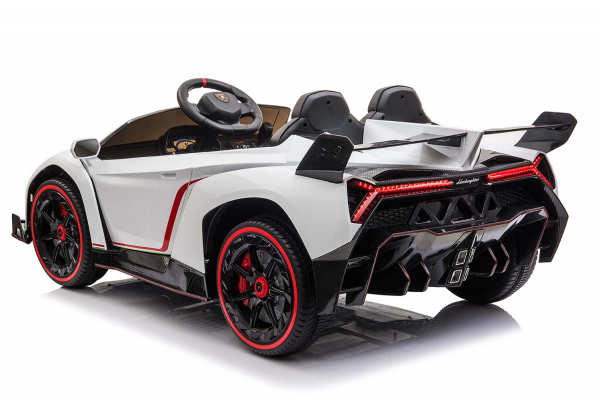 Masinuta electrica Lamborghini Veneno 180W 12V PREMIUM #Alb [2]