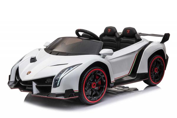 Masinuta electrica Lamborghini Veneno 180W 12V PREMIUM #Alb [0]