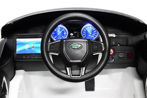 Masinuta electrica Land Rover Discovery DELUXE cu Touchscreen Mp4 #Negru 1