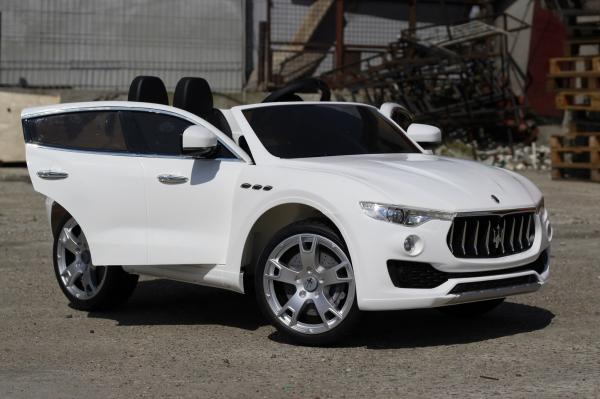 Masinuta electrica Maserati Levante 2x35W PREMIUM #Alb 4