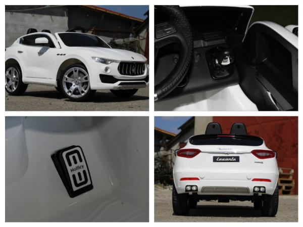 Masinuta electrica Maserati Levante 2x35W PREMIUM #Alb 10