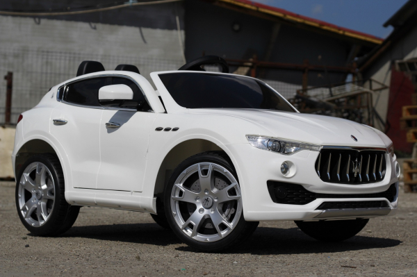 Masinuta electrica Maserati Levante 2x35W PREMIUM #Alb 3