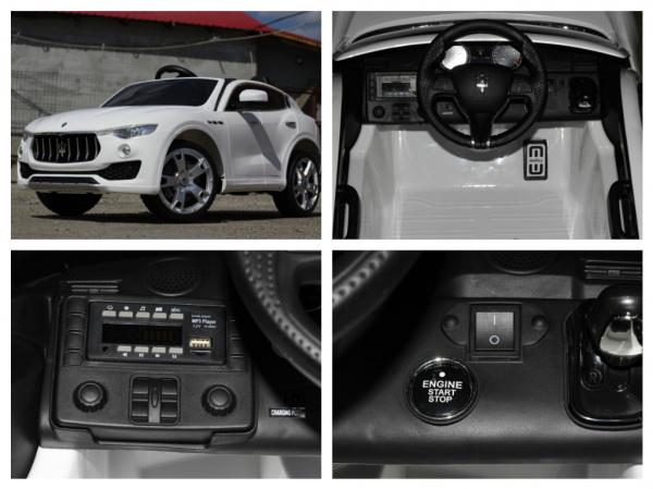 Masinuta electrica Maserati Levante 2x35W PREMIUM #Alb 9