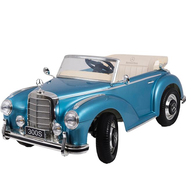 Masinuta electrica albastra pentru copii Mercedes 300S [0]